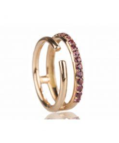 anello oro rosa rodoliti