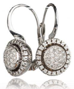 orecchini in oro bianco 18 carati con diamanti dal taglio brillante