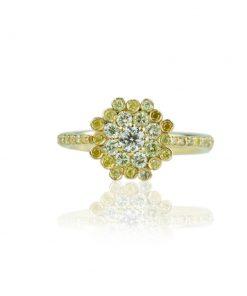 Devis_Palazzi_Anello_in_oro_18_carati_collezione_Corona_diamanti_gialli_naturali_taglio_brillante_frontale